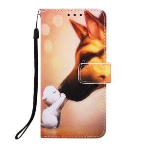 iPhone 11 Buch Etui Schutzhülle mit Aufdruck Katze Hund
