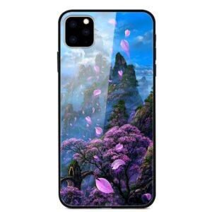 iPhone 11 Glas Schutzhülle mit Gummi Rand mit dem Motiv Frühling