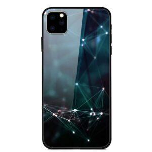 iPhone 11 Glas Schutzhülle mit Gummi Rand mit dem Motiv Linien