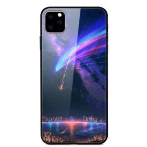 iPhone 11 Glas Schutzhülle mit Gummi Rand mit dem Motiv Meteor