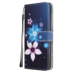 iPhone 11 Pro Max Buch Etui Schutzhülle mit Aufdruck Blüten