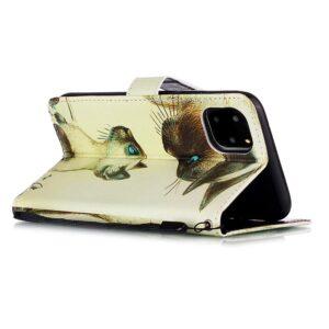 iPhone 11 Pro Max Buch Etui Schutzhülle mit Aufdruck Katzenmutter