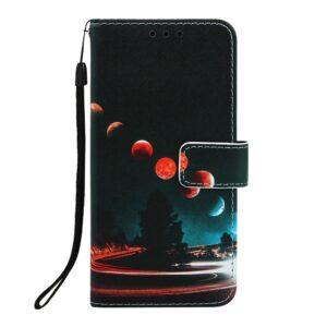 iPhone 11 Pro Max Buch Etui Schutzhülle mit Aufdruck Planeten