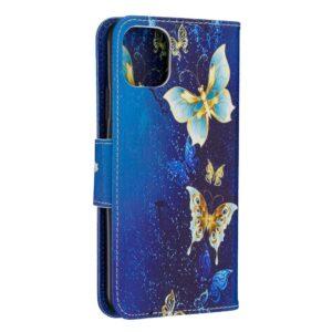 iPhone 11 Pro Max Buch Etui Schutzhülle mit Aufdruck Schmetterling