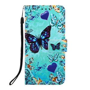 iPhone 11 Pro Max Buch Etui Schutzhülle mit Aufdruck Schmetterlinge