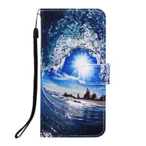 iPhone 11 Pro Max Buch Etui Schutzhülle mit Aufdruck Welle