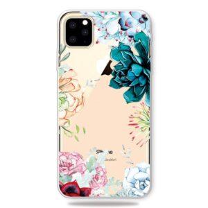 Super Dünne Transparente Schutzhülle für das iPhone 11 Pro Max mit dem Aufdruck Blüten