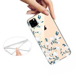 Super Dünne Transparente Schutzhülle für das iPhone 11 Pro Max mit dem Aufdruck Blumen