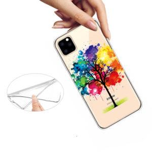 Super Dünne Transparente Schutzhülle für das iPhone 11 Pro Max mit dem Aufdruck Bunter Baum