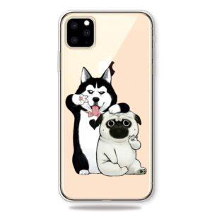 Super Dünne Transparente Schutzhülle für das iPhone 11 Pro Max mit dem Aufdruck Coole Hunde