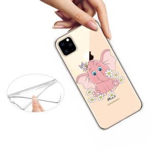 Super Dünne Transparente Schutzhülle für das iPhone 11 Pro Max mit dem Aufdruck Süsser Elefant