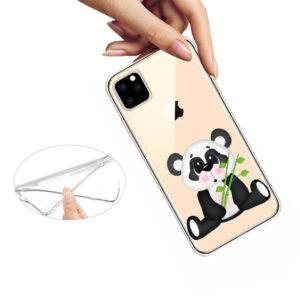 Super Dünne Transparente Schutzhülle für das iPhone 11 Pro Max mit dem Aufdruck Süsser Panda
