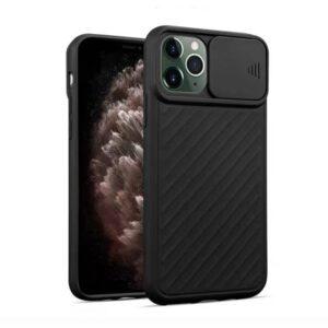 iPhone 11 Pro Silikon Hülle mit Kameraschutz in Schwarz