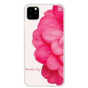 iPhone 11 Pro schlanke Gummi Schutzhülle mit coolem Aufdruck Blüte