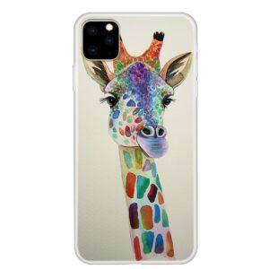 iPhone 11 Pro schlanke Gummi Schutzhülle mit coolem Aufdruck Giraffe