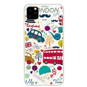 iPhone 11 Pro schlanke Gummi Schutzhülle mit coolem Aufdruck London