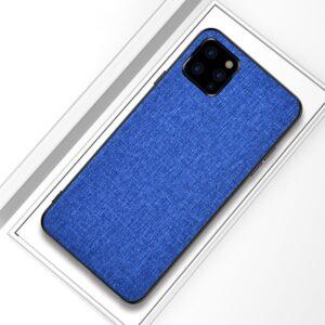 iPhone 11 Pro Slim Hülle aus Stoff und Gummi in Blau