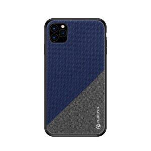 iPhone 11 Pro Slim Hülle aus Stoff und Gummi in Grau Blau