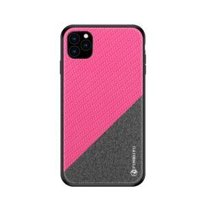 iPhone 11 Pro Slim Hülle aus Stoff und Gummi in Grau Pink