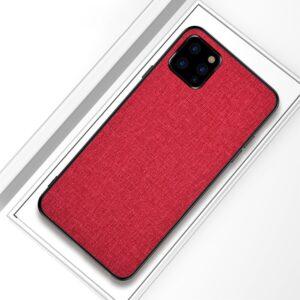 iPhone 11 Pro Slim Hülle aus Stoff und Gummi in Rot