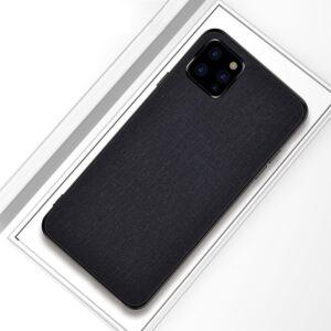 iPhone 11 Pro Slim Hülle aus Stoff und Gummi in Schwarz
