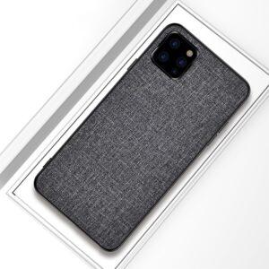 iPhone 11 Pro Slim Hülle aus Stoff und Gummi in Grau