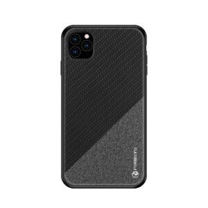 iPhone 11 Pro Slim Hülle aus Stoff und Gummi in Grau Schwarz