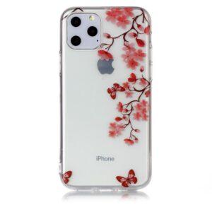 Super Dünne Transparente Schutzhülle für das iPhone 11 Pro mit dem Aufdruck Blüten