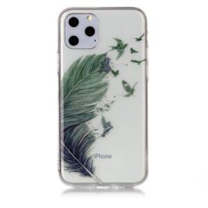 Super Dünne Transparente Schutzhülle für das iPhone 11 Pro mit dem Aufdruck Flugfeder