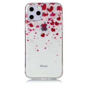 Super Dünne Transparente Schutzhülle für das iPhone 11 Pro mit dem Aufdruck Herzen