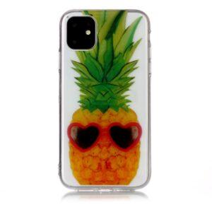 Super Dünne Transparente Gummi Schutzhülle für das iPhone 11 mit dem Aufdruck Ananas