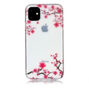 Super Dünne Transparente Gummi Schutzhülle für das iPhone 11 mit dem Aufdruck Blüten Baum