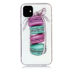 Super Dünne Transparente Gummi Schutzhülle für das iPhone 11 mit dem Aufdruck Macarons