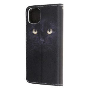 iPhone 12 Mini Buch Etui Schutzhülle mit Kartenfach mit dem Aufdruck Katzenaugen