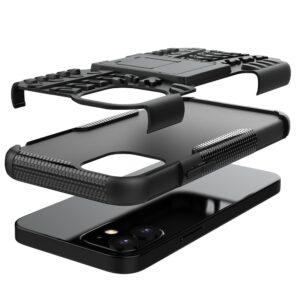 iPhone 12 Mini Hybrid Silikon und Plastik Schutzhülle mit Moviestand und sturzfest