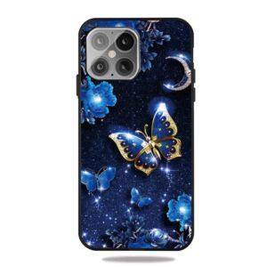 iPhone 12 Mini Gummi Schutzhülle Cover mit coolem Aufdruck blaue Schmetterling