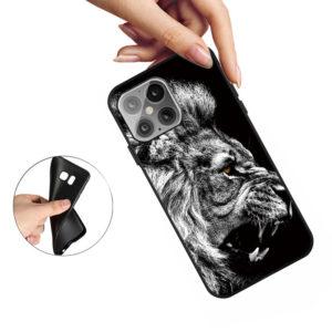 iPhone 12 Mini Gummi Schutzhülle Cover mit coolem Aufdruck Löwe