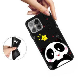 iPhone 12 Mini Gummi Schutzhülle Cover mit coolem Aufdruck Panda