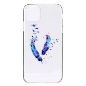 Super Dünne iPhone 12 Mini Schutzhülle Cover mit coolem Aufdruck Motiv Federn