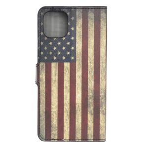 iPhone 12 / iPhone 12 Pro Buch Etui Schutzhülle mit Aufdruck Amerika Fahne