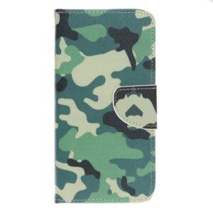 iPhone 12 / iPhone 12 Pro Buch Etui Schutzhülle mit Aufdruck Camouflage