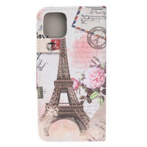 iPhone 12 / iPhone 12 Pro Buch Etui Schutzhülle mit Aufdruck Eiffelturm