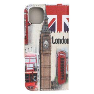 iPhone 12 / iPhone 12 Pro Buch Etui Schutzhülle mit Aufdruck London
