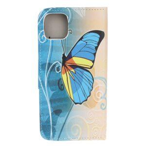 iPhone 12 / iPhone 12 Pro Buch Etui Schutzhülle mit Aufdruck Schmetterling