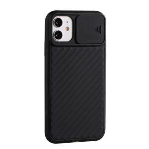 iPhone 12 / iPhone 12 Pro Silikon Hülle mit Kameraschutz in Schwarz