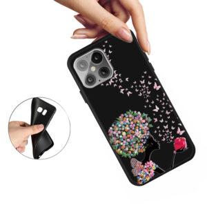 iPhone 12 / iPhone 12 Pro Gummi Schutzhülle Case Blumen Mädchen
