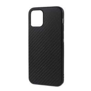 iPhone 12 / iPhone 12 Pro schwarze Carbon Optik Gummi Hülle