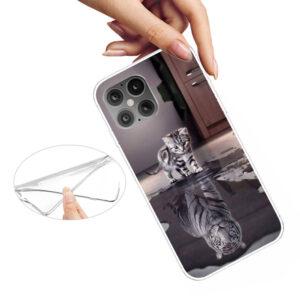 iPhone 12 / iPhone 12 Pro Gummi Schutzhülle Case Katze Tiger