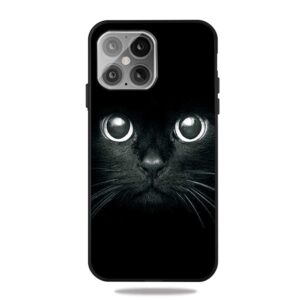 iPhone 12 / iPhone 12 Pro Gummi Schutzhülle Case Katzenaugen