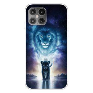 iPhone 12 / iPhone 12 Pro Gummi Schutzhülle Case blauer Löwe